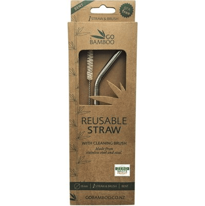 stainless steel straw with sisal cleaning brush