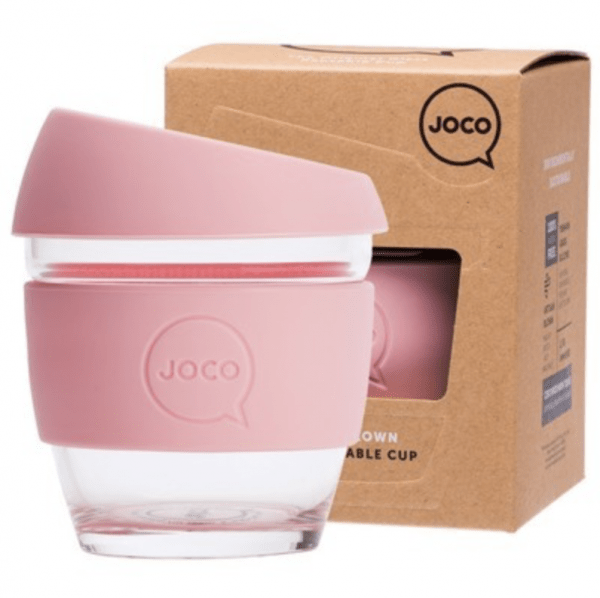Reusable PInk Glass Cup Small