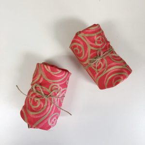 Reusable Red-Gold Gift Wrap (Small)