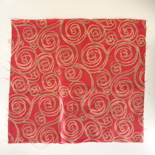 Reusable Red-Gold Gift Wrap