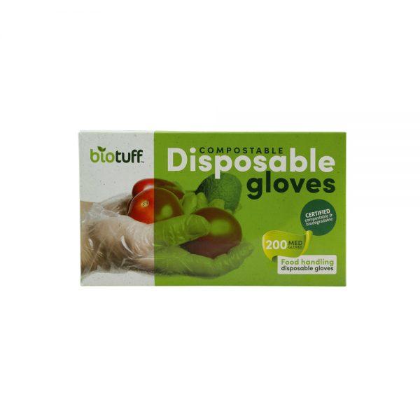 Compostable Disposable Gloves Medium 200
