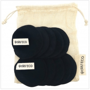 Ever Eco Reusable Bamboo Facial Pads Black (10 Pack)