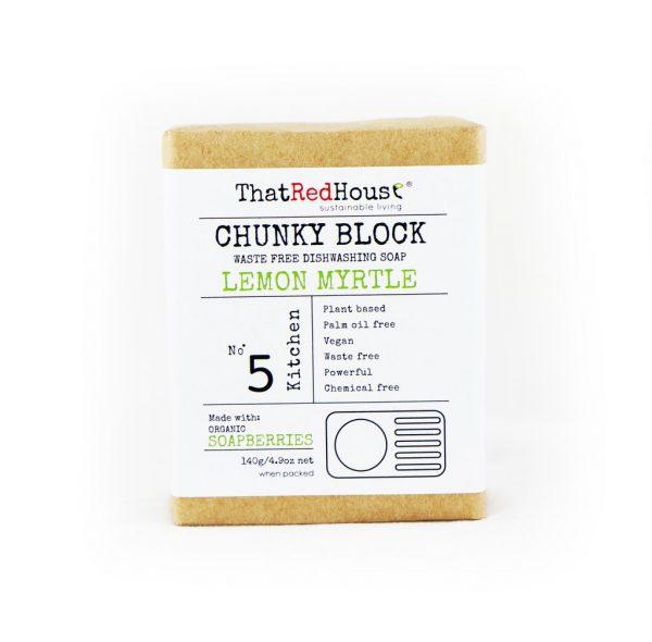 Chunky Block Dishwashing Soap Lemon Myrtle 140g