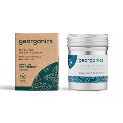 Georganics Natural Chewing Gum - Peppermint (30 pcs)