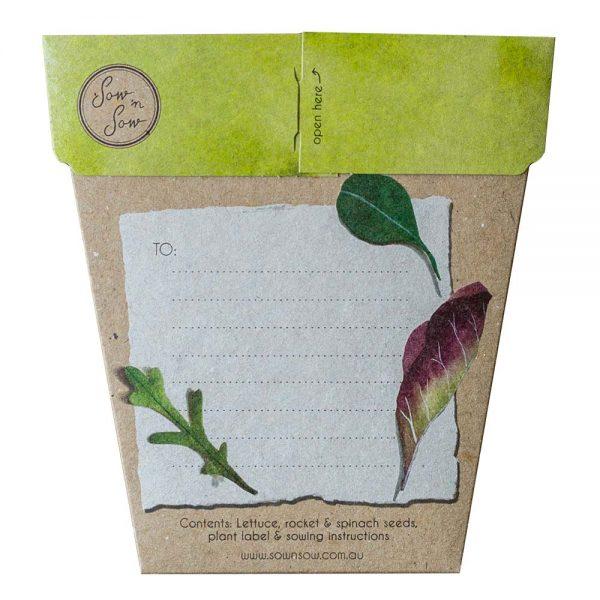 SOW 'N SOW Gift Of Seeds Leafy Greens