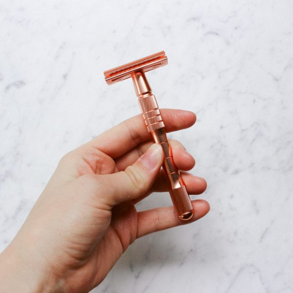Rose Gold Safety Razor - Thick Handled