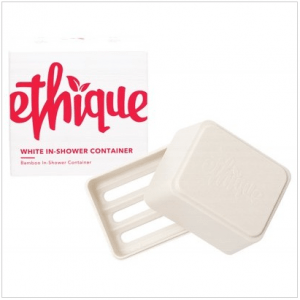 Ethique White In-Shower Container